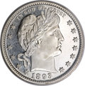 Proof Barber Quarters, 1893 25C PR67 Cameo PCGS. CAC....