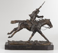 Western:20th Century, HARRY ANDREW JACKSON (American, b. 1924). The Marshall III, 1979. Bronze with patina. 10-1/2 x 11-1/2 x 3-1/2 inches (26...