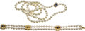 Estate Jewelry:Suites, Cultured Pearl, Sapphire, Diamond, Gold Jewelry Suite. ...