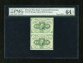 Fractional Currency:First Issue, Fr. 1242 10c First Issue PMG Choice Uncirculated 64 EPQ Uncut Pair....