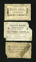 New-London, CT- J. C. Learned 1¢; 3¢ (2) 1862-63