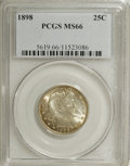 Barber Quarters, 1898 25C MS66 PCGS....