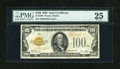 Small Size:Gold Certificates, Fr. 2405 $100 1928 Gold Certificate. PMG Very Fine 25.. ...