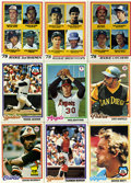 Baseball Cards:Sets, 1978 Topps Baseball Near Complete Set (706/726). ...