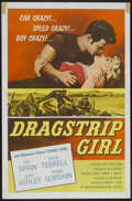 "Movie Posters:Bad Girl, Dragstrip Girl (American International, 1957). One Sheet (27"" X41""). Bad Girl...."