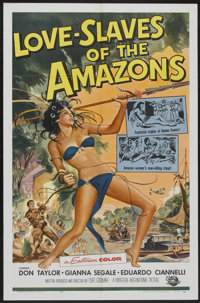 "Love Slaves of the Amazons (Universal International, 1957). One Sheet (27"" X 41""). Adventure"