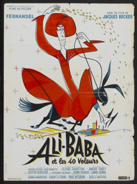 "Ali Baba and the Forty Thieves (Cinedis, 1954). French Petite (22"" X 30""). Comedy"