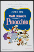 "Movie Posters:Animated, Pinocchio (Buena Vista, R-1978). One Sheet (27"" X 41"") and Stills(4) (8"" X 10""). Animated.... (Total: 5 Items)"