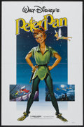 """Movie Posters:Animated, Peter Pan (Buena Vista, R-1982 and R-1976). One Sheet (27"""" X 41"""")and Stills (4) (8"""" X 10""""). Animated.... (Total: 5 Items)"""