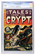 Golden Age (1938-1955):Horror, Tales From the Crypt #45 (EC, 1954) CGC FN/VF 7.0 Off-white towhite pages....