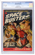 Golden Age (1938-1955):Science Fiction, Space Busters #1 Aurora pedigree (Ziff-Davis, 1952) CGC VF- 7.5Off-white pages....