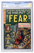Golden Age (1938-1955):Horror, Haunt of Fear #18 (EC, 1953) CGC VF- 7.5 Off-white to whitepages....