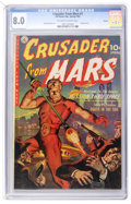 Golden Age (1938-1955):Science Fiction, Crusader from Mars #1 Aurora pedigree (Ziff-Davis, 1952) CGC VF 8.0Off-white to white pages....