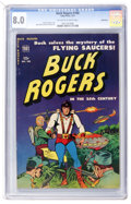Golden Age (1938-1955):Science Fiction, Buck Rogers #100 (#7) Bethlehem pedigree (Toby Publishing, 1951)CGC VF 8.0 Off-white to white pages....