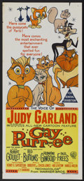 "Movie Posters:Animated, Gay Purr-ee (Warner Brothers, 1962). Australian Daybill (13.5"" X30""). Animated...."