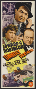 "Movie Posters:Crime, Unholy Partners (MGM, 1941). Insert (14"" X 36""). Crime...."