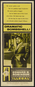 """Movie Posters:Crime, Illegal (Warner Brothers, 1955). Insert (14"""" X 36""""). Crime...."""