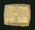 Colonial Notes:Maryland, Maryland August 14, 1776 $1 1/3 Very Good....