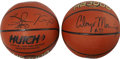 Basketball Collectibles:Balls, Alonzo Mourning And Shawn Kemp Signed Basketballs.(Lot of 2)...