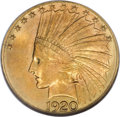 Indian Eagles, 1920-S $10 MS64 NGC....