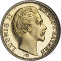 German States:Bavaria, German States: Bavaria. Ludwig II gold 20 Mark 1876D,...