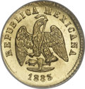 Mexico, Mexico: Republic gold Peso 1883/72-Mo M,...