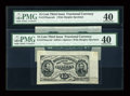 Fractional Currency:Third Issue, Fr. 1274SP/1272SP 15c Third Issue Wide Margin Specimen Pair PMG Extremely Fine 40.... (Total: 2 notes)