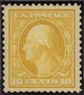 Stamps, #381, 1911, 10c Yellow, VF-XF 85 PSE. (Original Gum - Never Hinged).... (Total: 1 Slab)