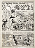 "Original Comic Art:Splash Pages, Wally Wood Mad #4 ""Superduperman"" Title page 1 Original Art(EC, 1953)...."