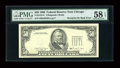 Fr. 2124-G $50 1990 Federal Reserve Note. PMG Choice About Unc 58 EPQ