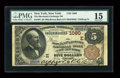 National Bank Notes:New York, New York, NY - $5 1882 Brown Back Fr. 467 The Merchants Exchange NB Ch. # 1080. ...