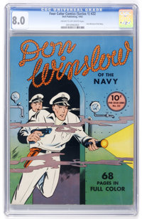 Four Color (Series One) #22 Don Winslow of the Navy (Dell, 1942) CGC VF 8.0 Cream to off-white pages