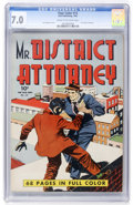 Golden Age (1938-1955):Crime, Four Color #13 Mr. District Attorney (Dell, 1942) CGC FN/VF 7.0 Cream to off-white pages....