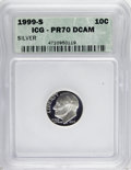 Proof Roosevelt Dimes: , 1999-S 10C Silver PR70 Deep Cameo ICG. NGC Census: (168/0). PCGSPopulation (20/0). Numismedia Wsl. Price for NGC/PCGS coi...