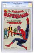 Silver Age (1956-1969):Superhero, The Amazing Spider-Man #10 (Marvel, 1964) CGC VF- 7.5 Off-whitepages....