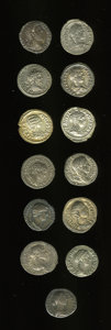 Ancients:Ancient Lots  , Ancients: Lot of thirteen Roman Imperial denarii.... (Total: 13 coins)