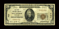 National Bank Notes:Maryland, New Windsor, MD - $20 1929 Ty. 1 The First NB Ch. # 747. ...