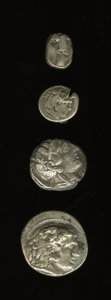Ancients:Ancient Lots  , Ancients: Lot of four Greek AR.... (Total: 4 coins)