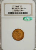 Proof Indian Cents, 1909 1C PR66 Red NGC. CAC....