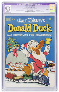 Four Color #367 Donald Duck - File Copy (Dell, 1952) CGC Apparent NM- 9.2 Slight (A) Off-white pages