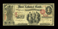 National Bank Notes:New York, Port Chester, NY - $1 Original Fr. 380 The First NB Ch. # 402. ...