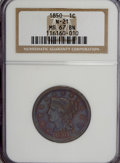 Large Cents, 1850 1C MS67 Brown NGC....
