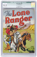 Golden Age (1938-1955):Western, Four Color #136 The Lone Ranger (Dell, 1947) CGC Qualified VF+ 8.5Cream to off-white pages....