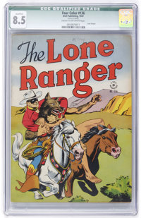 Four Color #136 The Lone Ranger (Dell, 1947) CGC Qualified VF+ 8.5 Cream to off-white pages