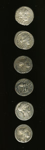 Ancients:Ancient Lots  , Ancients: Lot of six Roman Republican denarii.... (Total: 6 coins)
