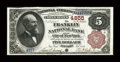 National Bank Notes:New York, New York, NY - $5 1882 Brown Back Fr. 472 The Franklin NB Ch. # 4855. ...