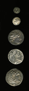 Ancients:Ancient Lots, Ancients: Lot of five Greek AR.... (Total: 5 coins)
