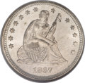 Seated Quarters, 1867-S 25C MS64 NGC....