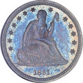 Proof Seated Quarters, 1861 25C PR64 NGC....