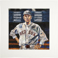 Baseball Collectibles:Others, Babe Ruth Hand Embellished Giclee Print....